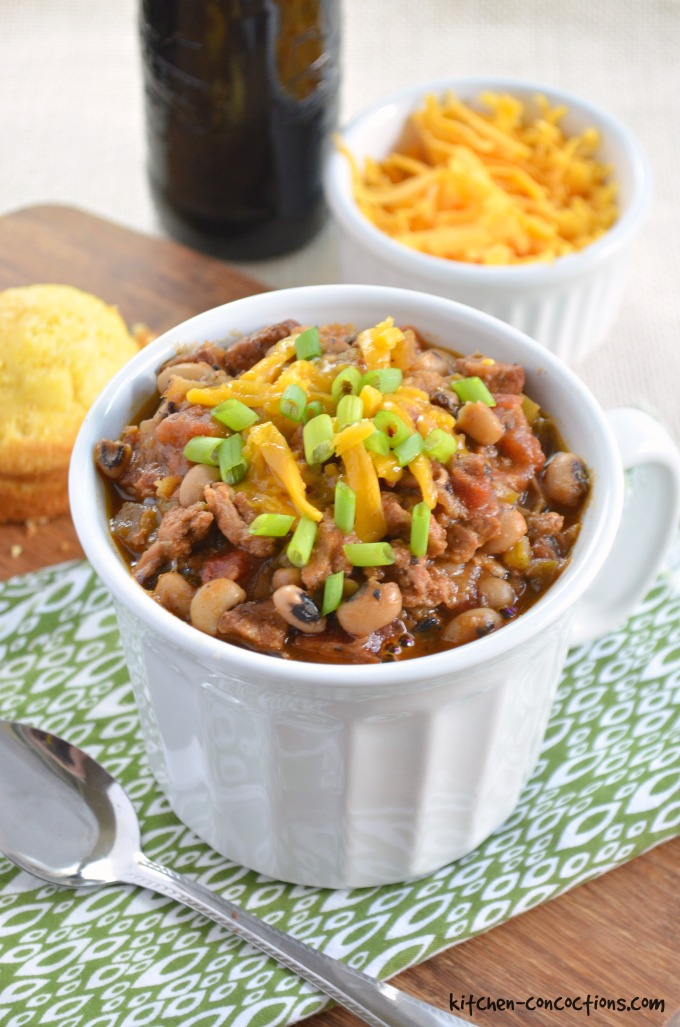 Cajun Pork and Black-Eyed Pea Chili