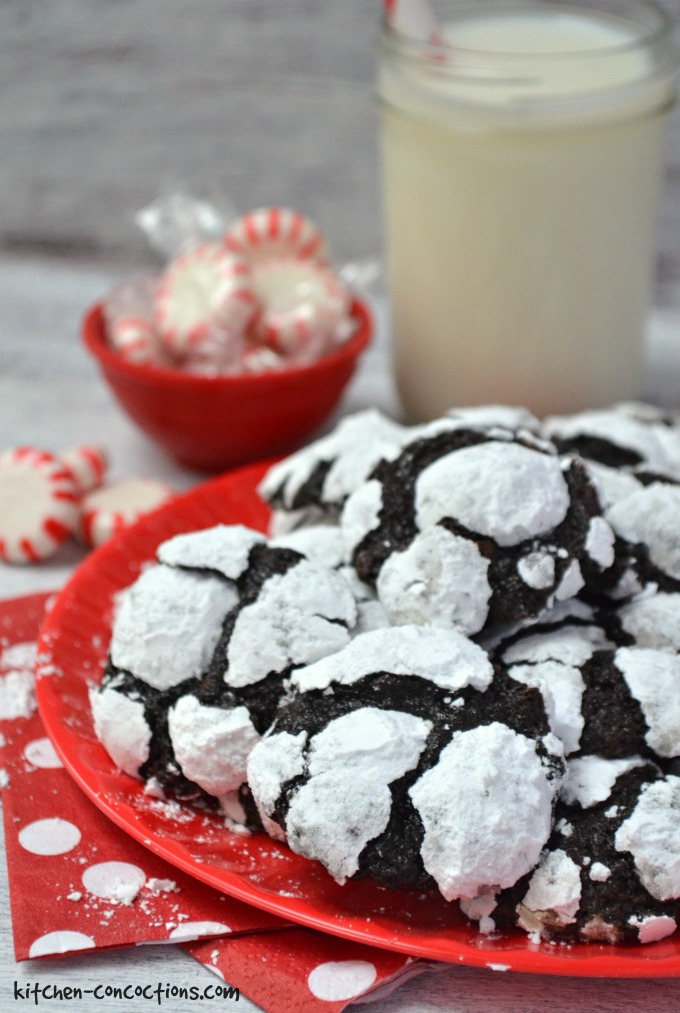 Peppermint Chocolate Truffle Cookies