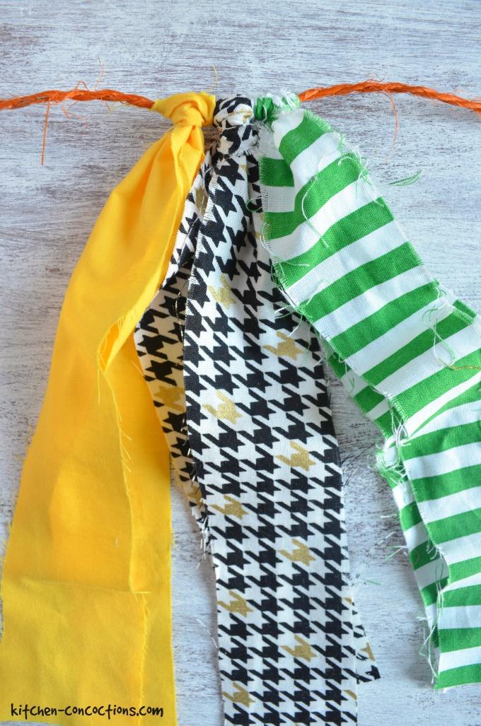 DIY Fabric Football Garland