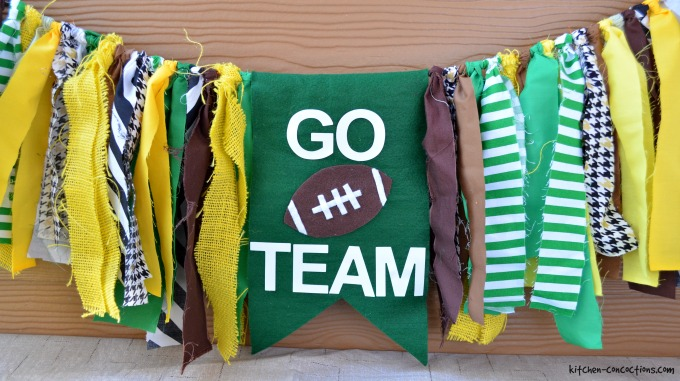 DIY Fabric Football Garland