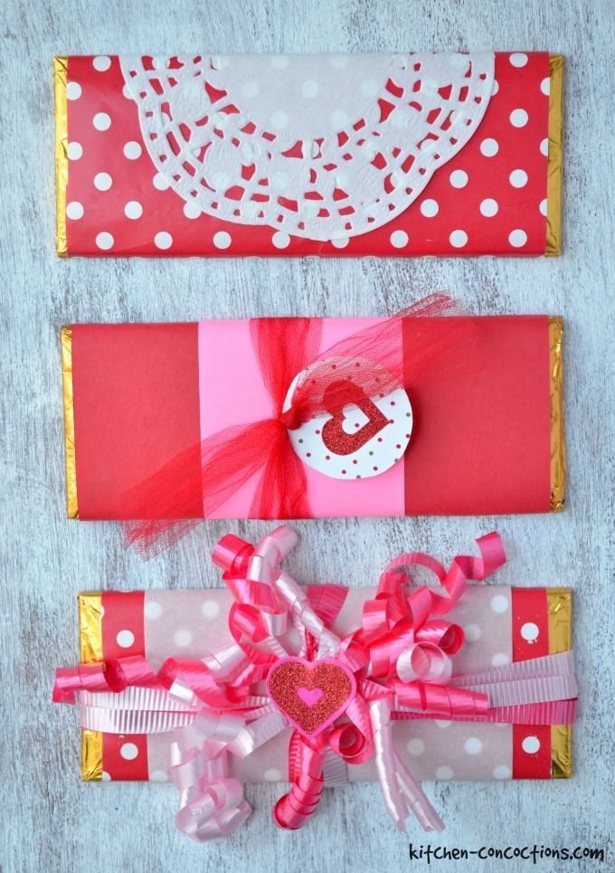 DIY Valentine's Candy Bar Wrappers