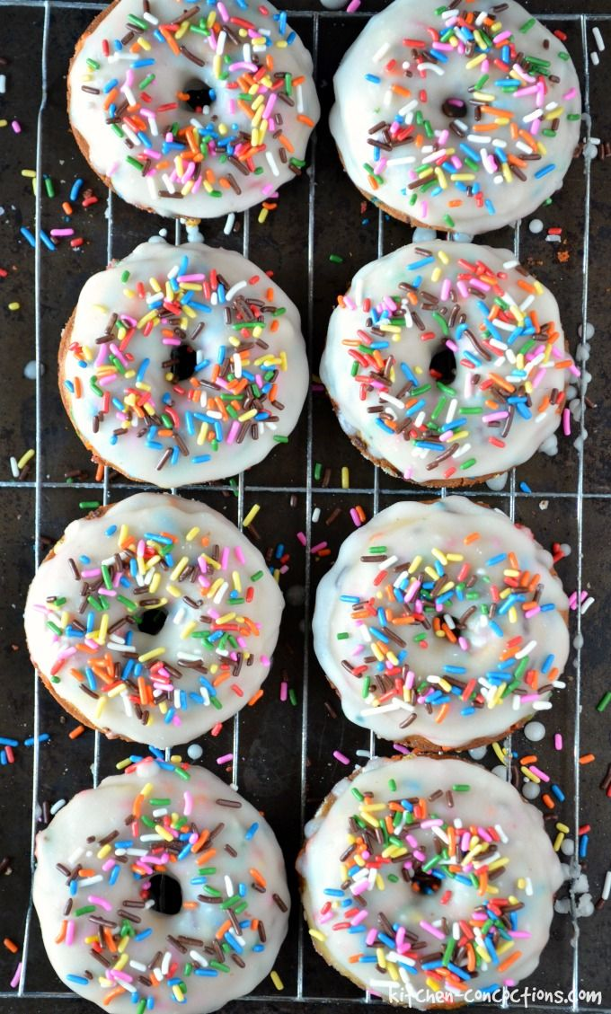Baked Funfetti Donuts