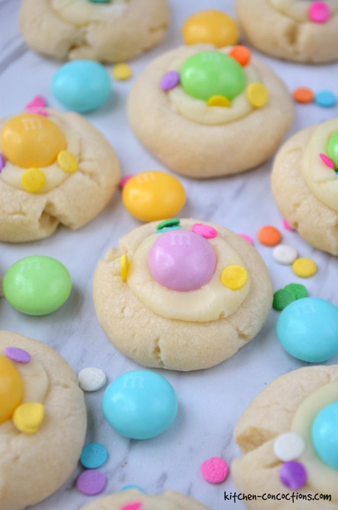 White Chocolate Thumbprint Cookies