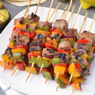 Steak Fajita Kabobs