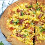 Corn, Prosciutto and Caramelized Onion Pizza