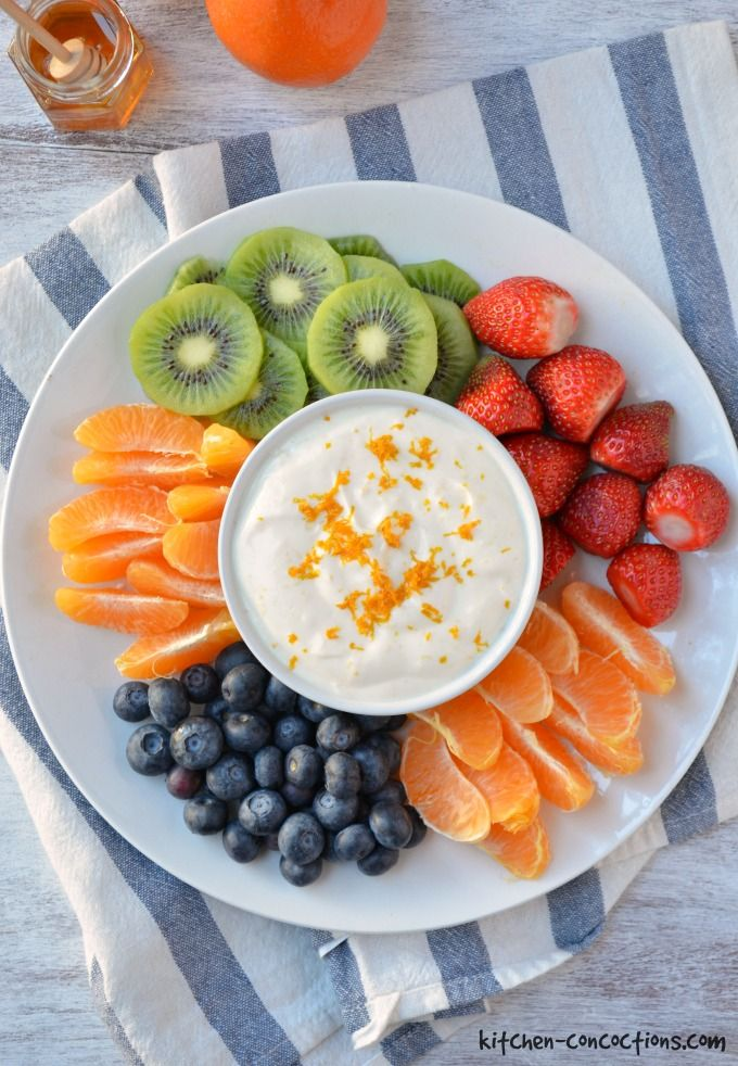 Honey Orange Fruit Dip