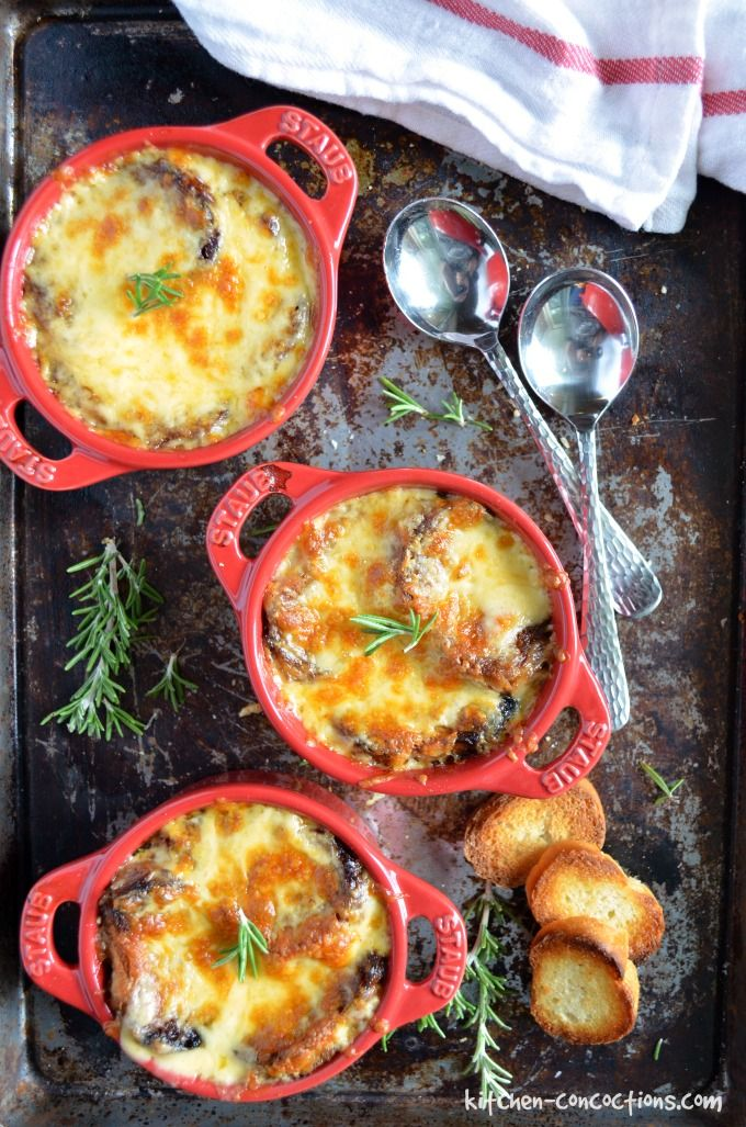 Dare I say it, but this just might be the best French Onion Soup recipe! Not only is this recipe easy, it tastes just like the French Onion Soup you get at a restaurant, only better! Whip some up for dinner tonight!