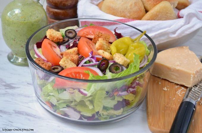 Copycat Olive Garden Salad Recipe - Kitchen Concoctions