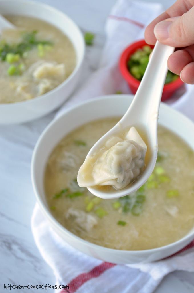 Wonton Egg Drop Soup Kitchen Concoctions