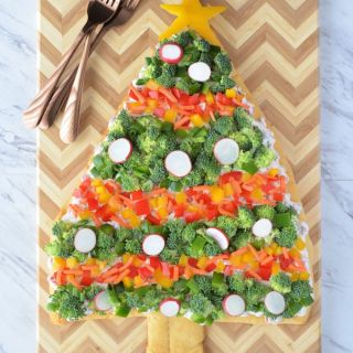 Christmas Tree Veggie Pizza