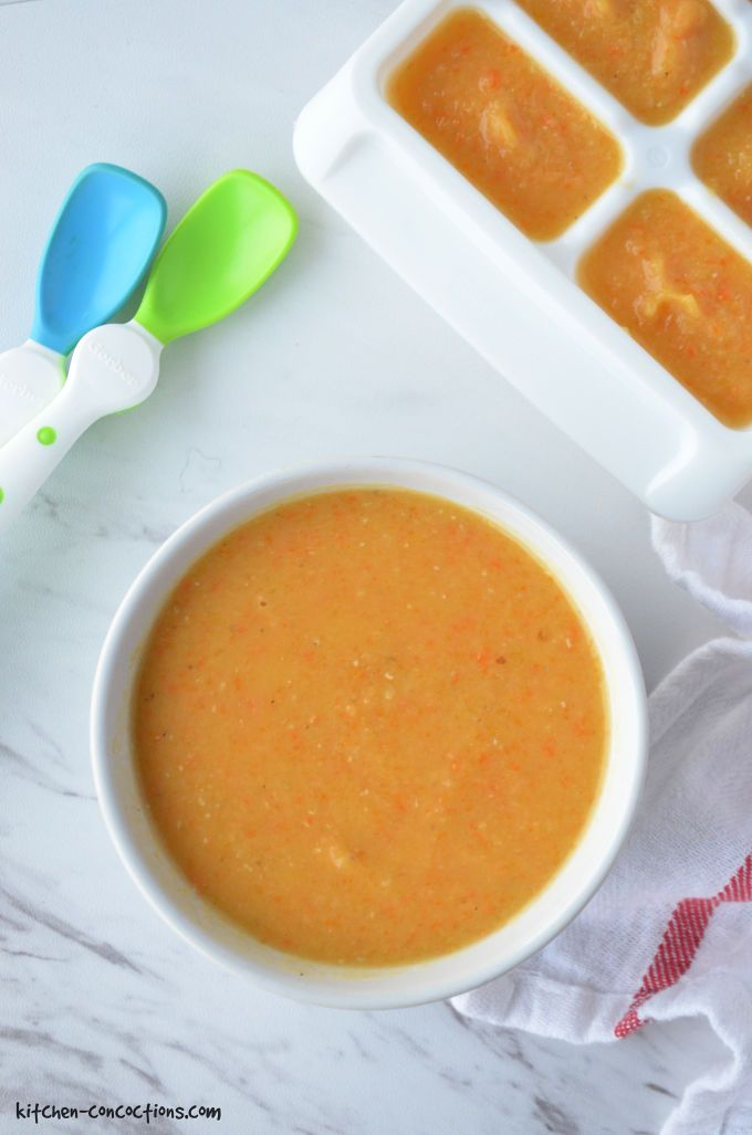 Homemade Baby Food - Butternut Squash and Red Lentil Soup