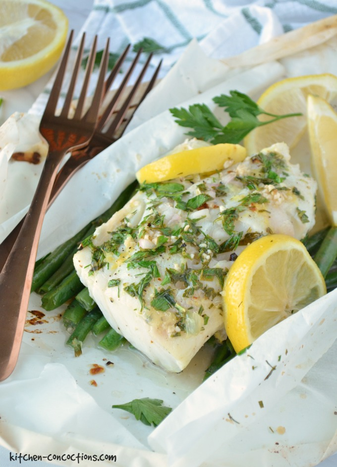 Lemon Herb Fish en Papillote