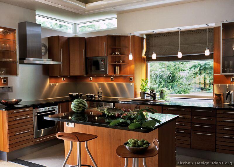 Pictures of Kitchens - Modern - Medium Wood Kitchen Cabinets