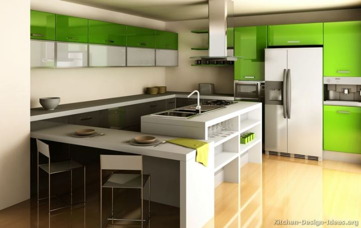 Pictures of Kitchens   Modern   Two Tone Kitchen Cabinets  Page 9  244     More Pictures      Modern Two Tone Kitchen