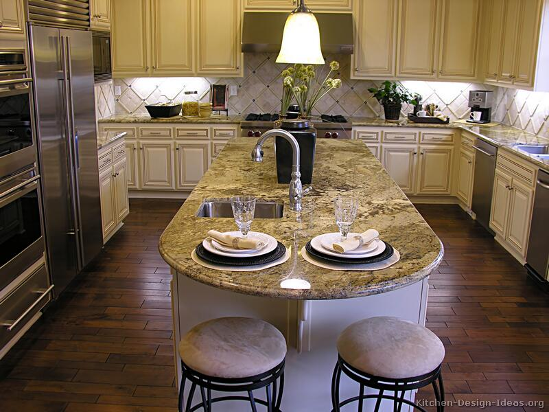 White Kitchen Islands 34