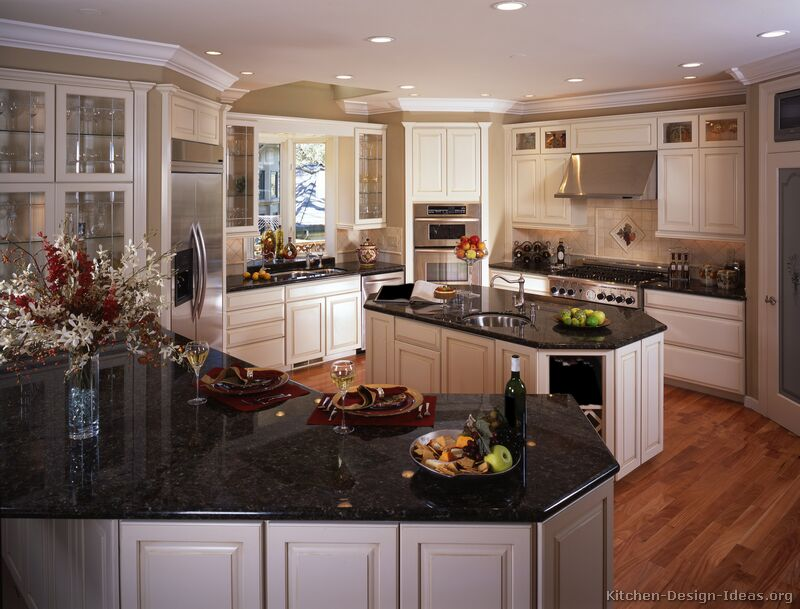 Black Granite Colors - Gallery on Dark Granite Countertops With Dark Cabinets  id=26203