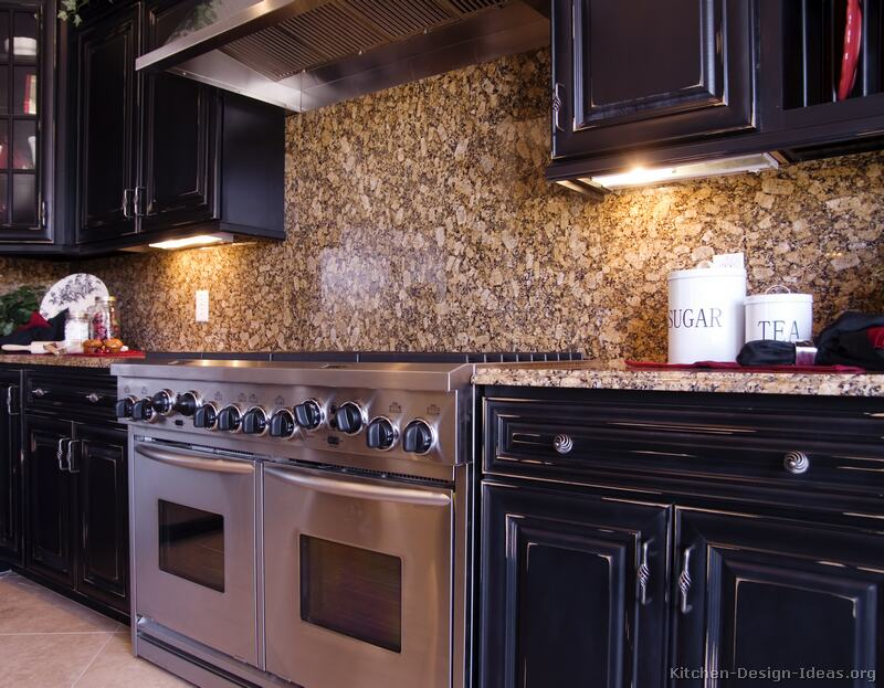 Kitchen Backsplash Ideas - Materials, Designs, and Pictures on Kitchen Backsplash Ideas With Black Granite Countertops  id=56151