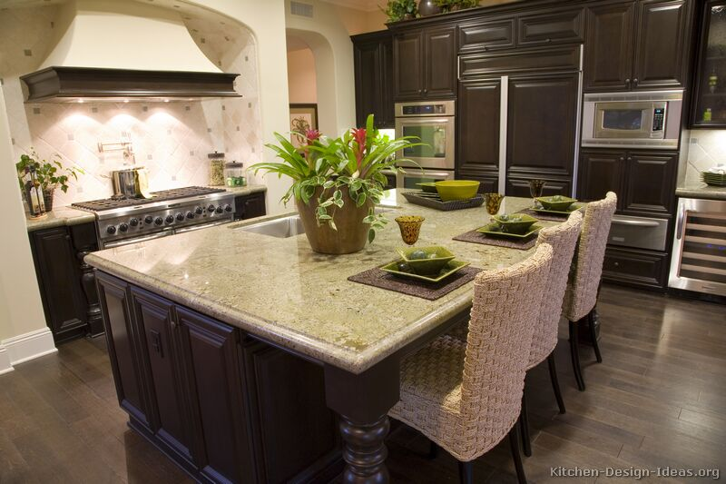 Budget around 7 feet if you want a cooktop or sink in the island. Gourmet Kitchen Design Ideas