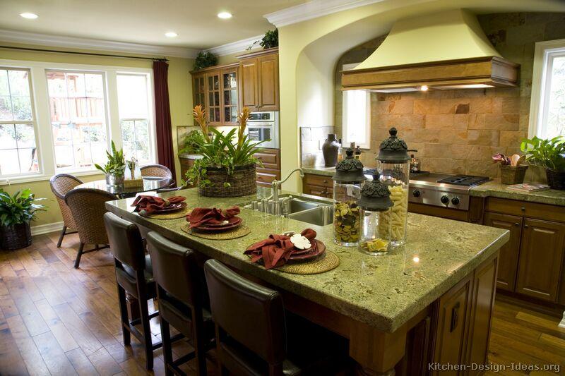 Gourmet Kitchen Design Ideas on Counter Decor  id=18148