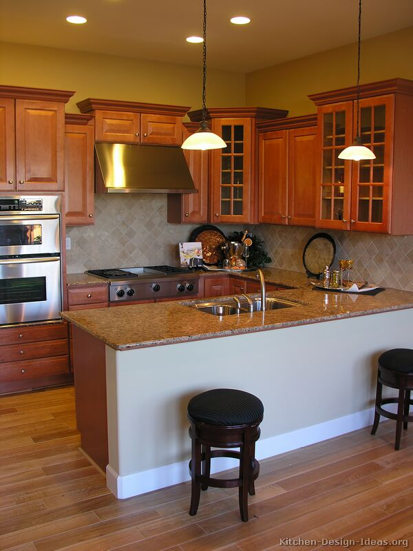 Pictures of Kitchens - Traditional - Medium Wood Cabinets ... on Rustic:rkh3E0Gkuju= Farmhouse Kitchen Ideas  id=16342