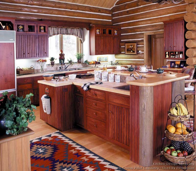 Log Home Kitchens   Pictures   Design Ideas 23  Log Home Kitchen