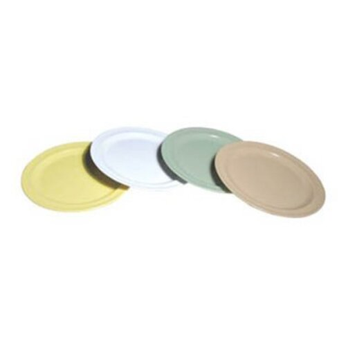 Melamine plates green 9 inches Adcraft