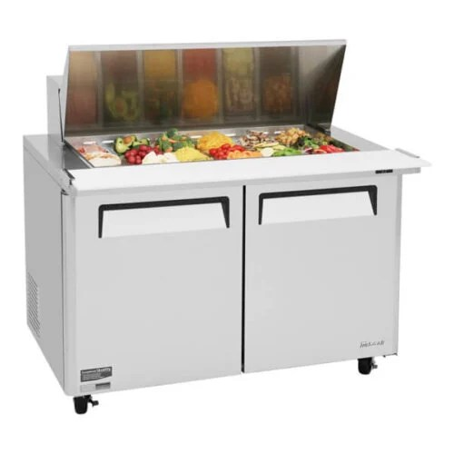 Turbo Air Sandwich Salad Prep Table w Refrigerated Base - MST-48-18-N (2)