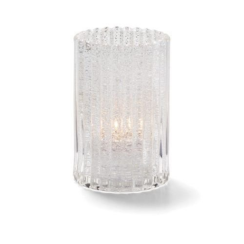 Hollowick 1502CJ Vertical Glass Rod Lamp w/ Cylinder Shape, 2.88×4.63″, Clear Jewel