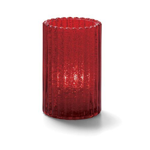 Hollowick 1502RJ Vertical Glass Rod Lamp w/ Cylinder Shape, 2.88×4.63″, Ruby Jewel