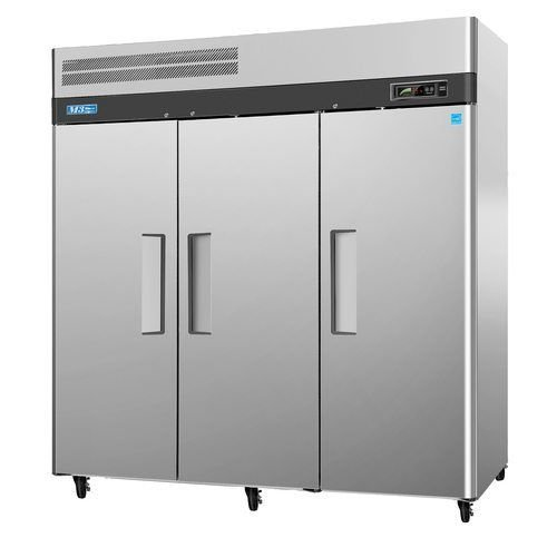 "Turbo Air M3F72-3 78"" Three Section Reach-In Freezer (3) Solid Door"