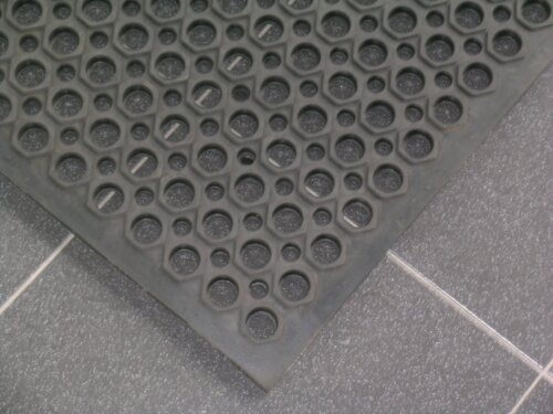 3′ x 5′ Black Anti Fatigue Floor Mat – 1/2″ Thick