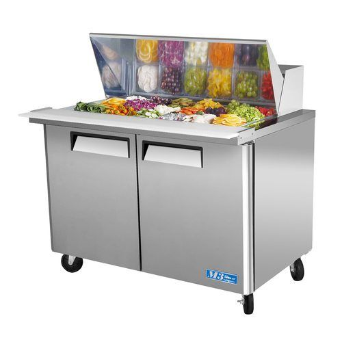 "Turbo Air MST-48-18 48"" Sandwich Salad Prep Table w/ Refrigerated Base"