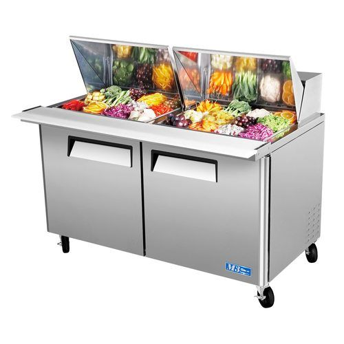 "Turbo Air MST-60-24 60"" Sandwich Salad Prep Table w/ Refrigerated Base"