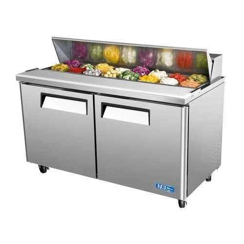 "Turbo Air MST-60 60"" Sandwich Salad Prep Table w/ Refrigerated Base"
