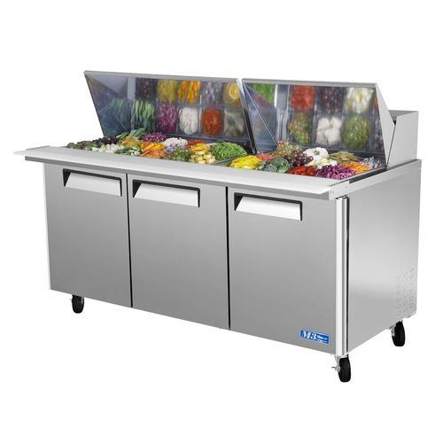 "Turbo Air MST-72-30 72"" Sandwich Salad Prep Table w/ Refrigerated Base"