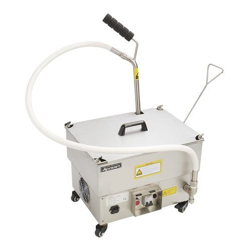Portable Fryer Oil Filter with Reversible Pump 40LBS 120V