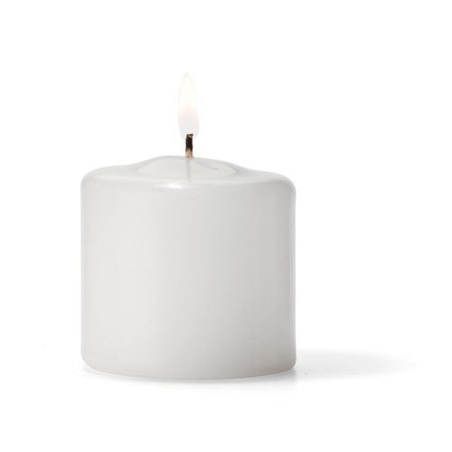 Hollowick P2.5W-36 Pillar Candle, 2.5×2.5″, Wax, White