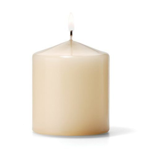 Hollowick P3X3I-12 Pillar Candle, 3×3″, Wax, Ivory
