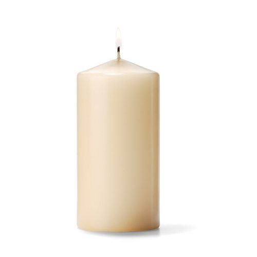 Hollowick P3X6I-12 Pillar Candle, 6×3″, Wax, Ivory
