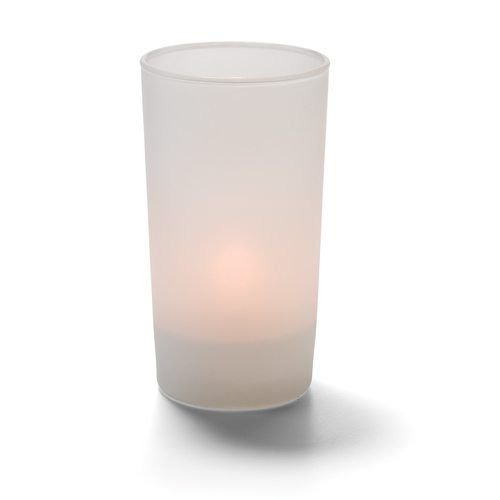 Hollowick SCH400SL Cafe Cylinder Votive Lamp for HD8 or HD15, Satin Linen