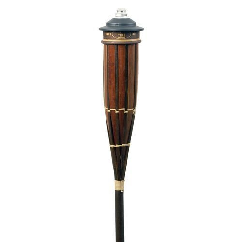 Hollowick TK10221 Royal Polynesian Torch w/ 16-oz Refillable Fuel Canister, 3.62×60″, Bamboo