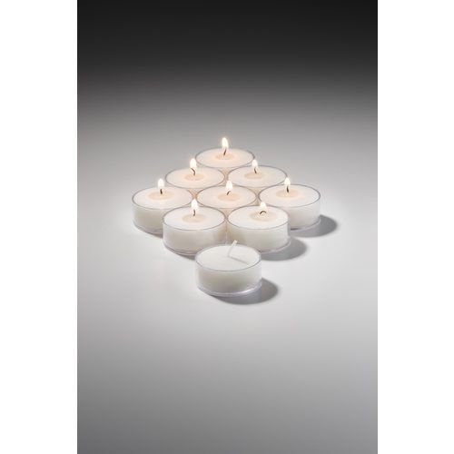 Hollowick TL5WPL-500 Wax Tealight Candle w/ 5-hr Capacity, 1.5x.75″, Plastic, Clear