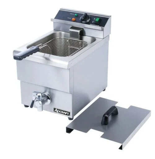 Single Tank Deep Fryer With Faucet – 208V 6L