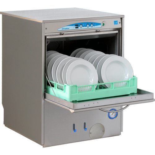 High temperature undercounter dishwasher