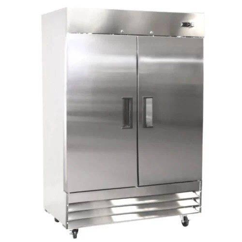 Kitchen Monkey KMRF-2D Solid Door Reach-In Refrigerator 2 Door