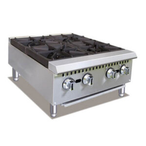 Gas Countertop Hot Plate 4 Burner 24 Inches Wide