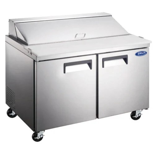 Salad Sandwich Prep Table Two Door 15 Cu Ft 60 Inches Grista