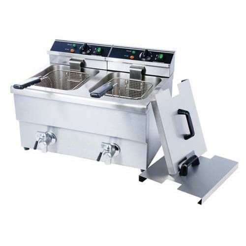 Double Tank Deep Fryer With Faucet