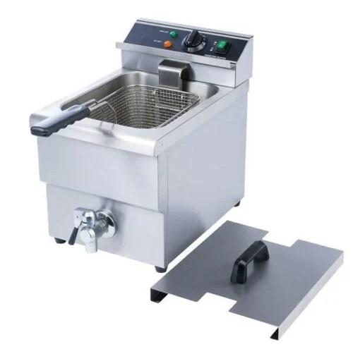 Single Tank Deep Fryer With Faucet 6L 208V by Kitchen Monkey