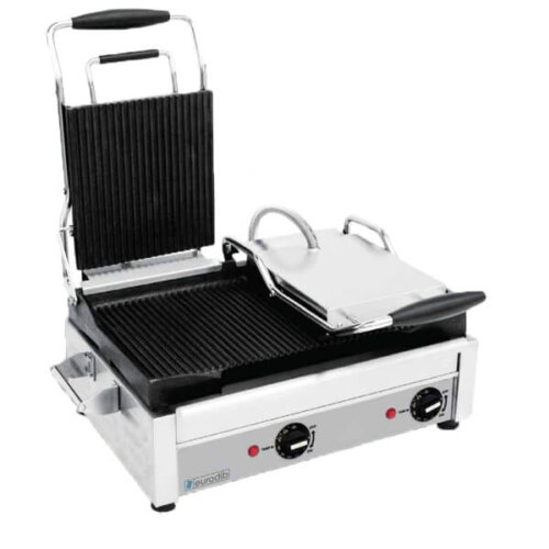 Panini Press Ribbed 1800W 120V Eurodib